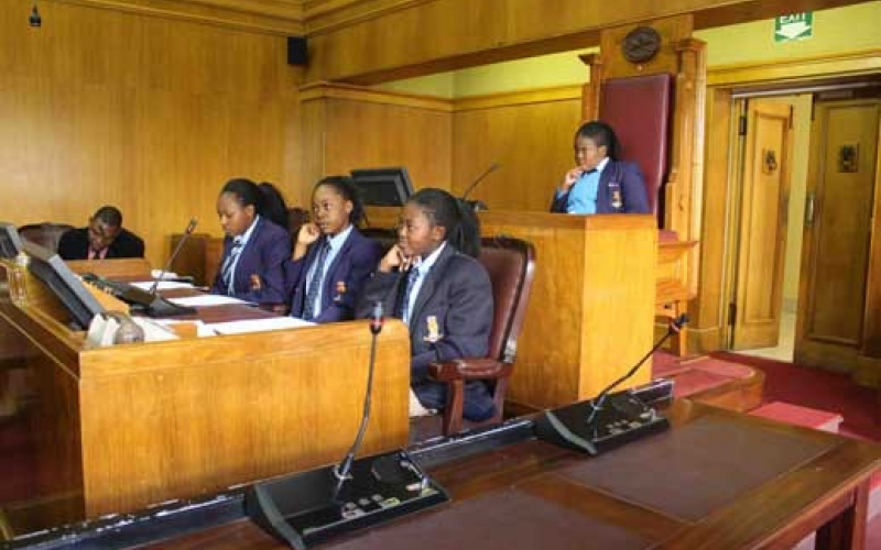 Watershed History Class visit to Parliament
